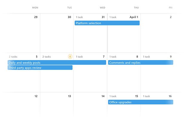 views calendar