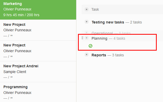 Drag & Drop task lists