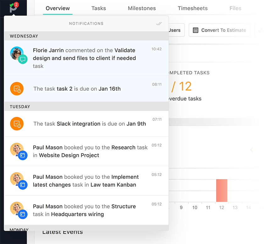 work management software notifications
