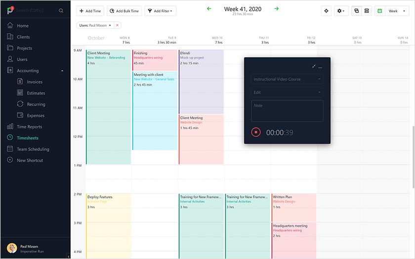 paymo time tracking tools
