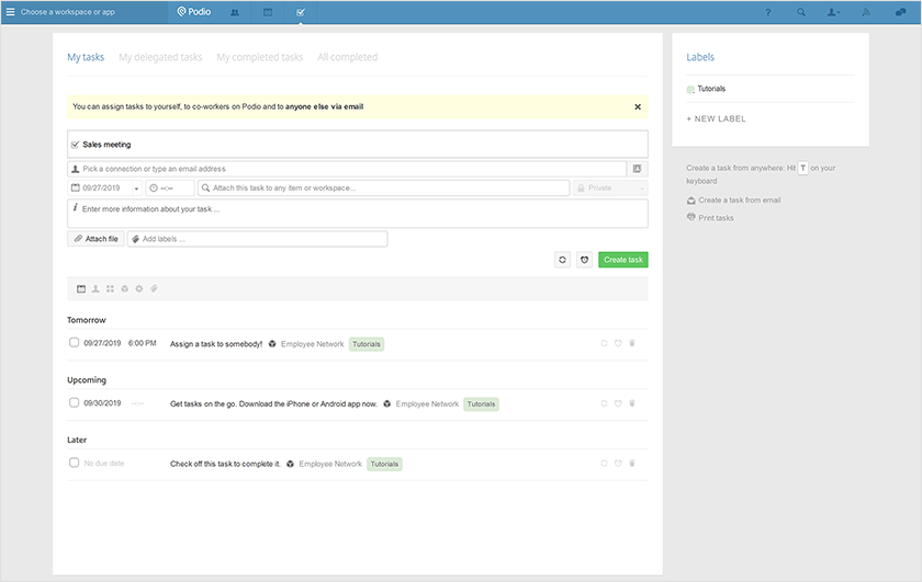 podio-project-management-tool