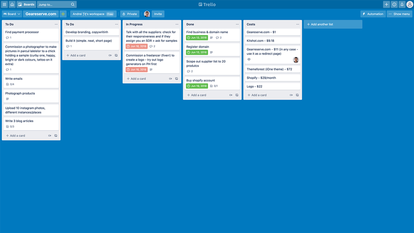 Trello Task Management Software